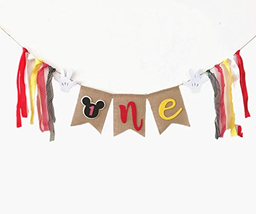 Mickey Mouse 1st Birthday Banner Party SuppliesFirst High Chair