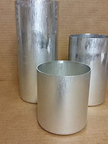(OutletBestSelling Tin Coated Round Pillar Seamless Aluminum Candle Molds 4 inch Size 9-1\2 inches)