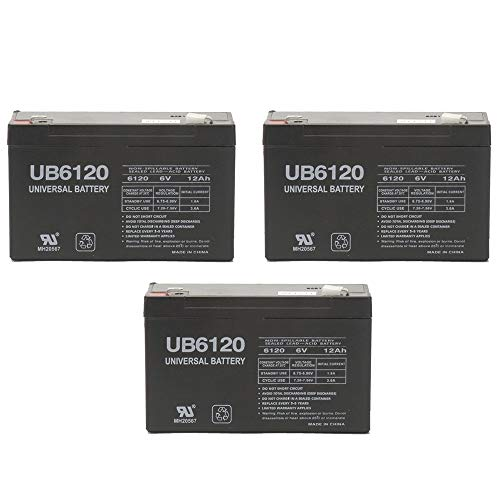 Universal Power Group 6V 12AH F2 IBM UPS OP700i, UPS OP700AVR UPS Battery - 3 - Feeder Ibm