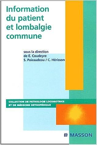 Livres gratuits Information du patient et lombalgie commune pdf, epub