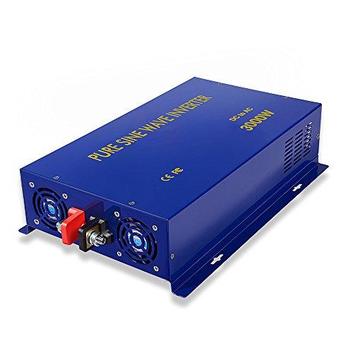 3000w Off Grid Pure Sine Wave Inverter 12v to 120v DC AC Converter Power Generator by Generic (Image #1)