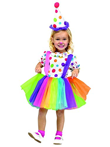 Fun World Costumes Baby Girl's Big Top Fun Toddler Costume, White, Large]()