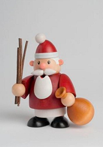 KWO Little Fellow Santa Claus Mini German Wood Christmas Incense Smoker Germany