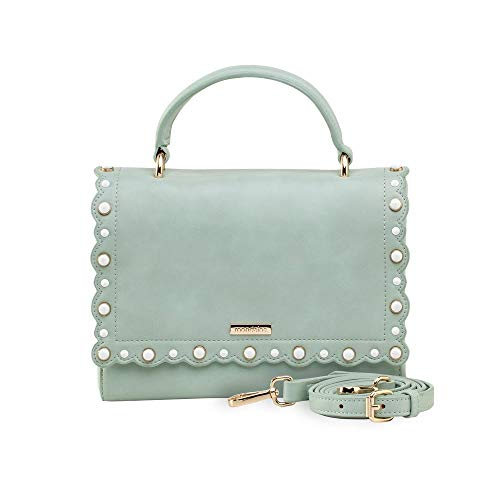 Bolsa Pequena De Mão Azul Tachas Coloridas