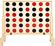Play Platoon Giant Wooden Drop 4 Outdoor Game - Four in a Row Wins