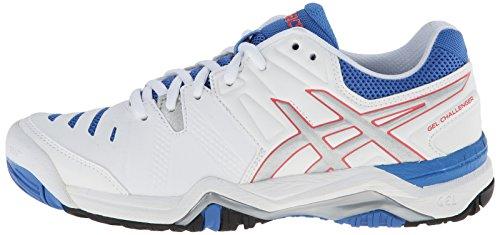 ASICS Women's Gel-Challenger 10 Tennis Shoe, White/Silver/Powder Blue,6 M US by ASICS (Image #5)