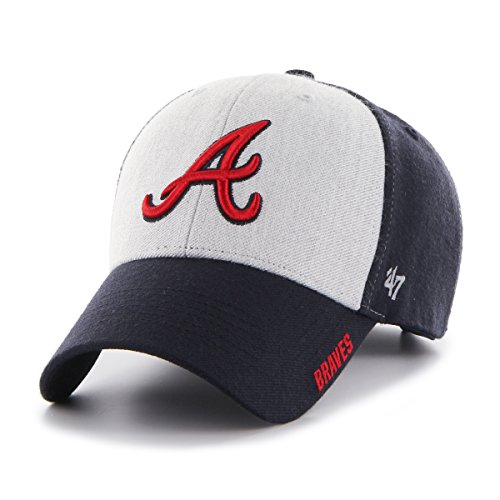 MLB Atlanta Braves Beta MVP Adjustable Hat, One Size, Navy Atlanta Braves Memorabilia