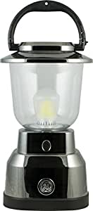 GE 6D Enbrighten Lantern with Nickel Plating, 550 Lumens, 280hrs Battery Life, IPX4 Water Resistant, 14210
