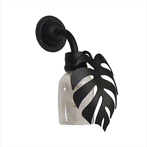 オンリーワン エイブロシリーズ ガーデンライト ボトル門灯モンステラ SR1-BMM 『エクステリア照明 ライト』 艶消しクロ B018NTAM2U