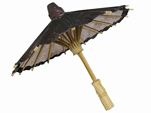 BalsaCircle 20-Inch Chocolate Brown Paper Parasol Chinese Umbrella - Wedding Party Centerpieces Home Decorations Supplies -