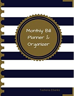 monthly budget planner bill organizer book with weekly calendar
