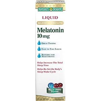 Natures Bounty Liquid Maximum Strength Melatonin 10mg, 59 mL (packaging may vary)