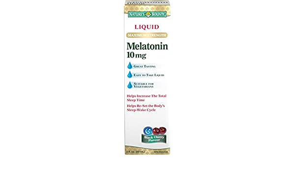 Amazon.com: Natures Bounty Liquid Maximum Strength Melatonin 10mg, 59 mL (packaging may vary): Health & Personal Care