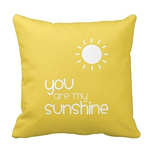 [YOUHOME You Are My Sunshine Yellow Pillow Decorative Inspirational Quotes Pillow Cover Square Throw Pillow Case Cover Quotes Zippered Pillowcase Pillow Cover 18x18] (Animals That Start With The Letter T)