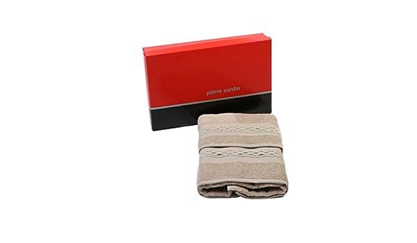 Pierre Cardin Juego Toallas Rizo baño Braid Viso + Invitados Pardo: Amazon.es: Hogar
