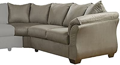Ashley Furniture Signature Design   Darcy Contemporary Right Arm Facing  Loveseat   Sectional Component Only