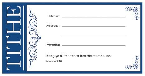Value Offering Envelope-Tithe - Blue - (Package of 100) ()