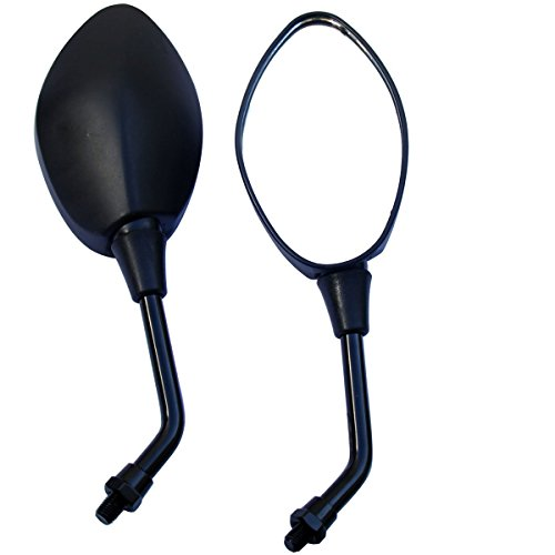MotorToGo Black Oval Rear View Mirrors for 2007 Yamaha Stratoliner S XV1900CTS -  MR509-Y1-07YamStratolinerSXV1900CTS