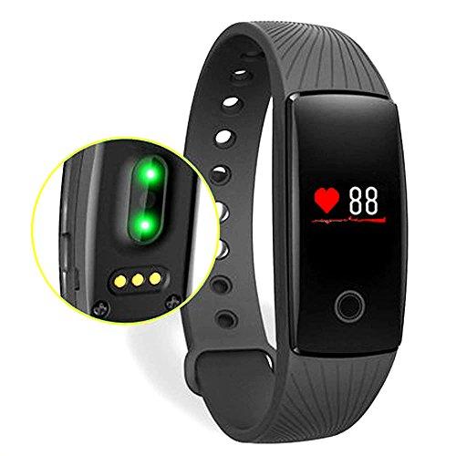 Fitness Armband ,Fitness-Tracker Activity Tracker Sport-Armband mit Schrittzähler,Herzfrequenz-Monitor, Schlafanalyse Smartband (Schwarz)