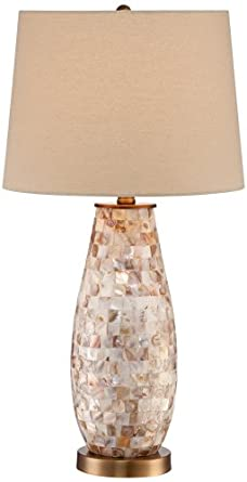 Kylie Mother Of Pearl Tile Vase Table Lamp