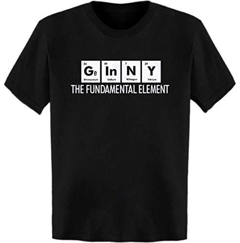 Ginny The Fundamental Element Periodic Table T-Shirt Black