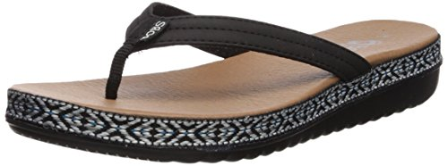 Party Mujer Sunkiss Bobs Sandalia Skechers Picnic Negro wx6aq7CpP