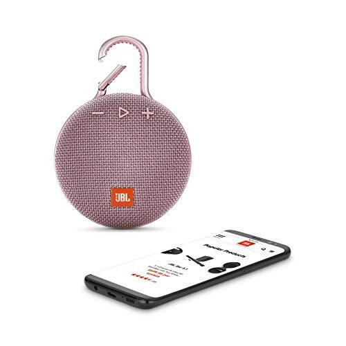 JBL Clip 3 Altavoz inalámbrico portátil con Bluetooth - Parlante resistente al agua (IPX7) - 10h de música continua - Rosa: Amazon.es: Electrónica