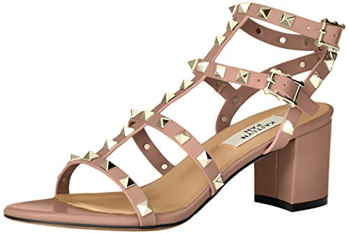 Kaitlyn Pan Studded Block Heel Open Toe Sandal