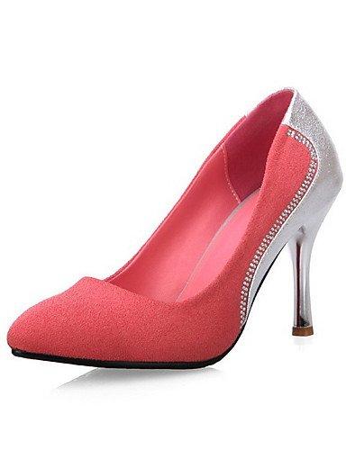 High Heels Lässig pink us8 uk6 Damen Absätze cn39 eu39 Rosa GGX Zehe Spitzschuh Kunststoff Stöckelabsatz Geschlossene Schwarz 5FxAfqqw