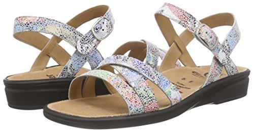 Aperta A Punta multi 9900 Multicolore Weite Donna Sandali Gantersonnica mehrfarbig E qFXwIt