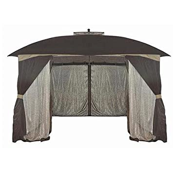 Mainstays 10 X 13 Patterned Netting Gazebo Great For Outdoor Garden Setting