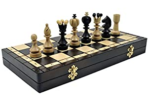 Large Pearl Hand Carved Wooden Chess Set Wood