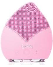 SUNMAY Sonic Brosse Nettoyante pour le visage et Massage, Anions Import FDA Grade Silicone, Rechargeable Imperméable Anti-Aging Visage Exfoliator Body Makeup Tool Version mise à jour