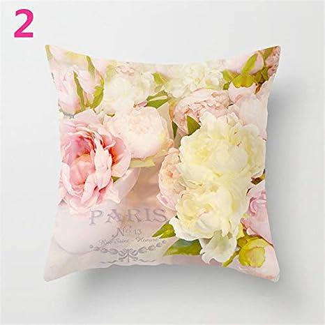 Star Supermarket Funda de cojín con diseño de Flor de Rosa para sofá, decoración del hogar, para el día de la Madre, poliéster, 2, 45×45cm