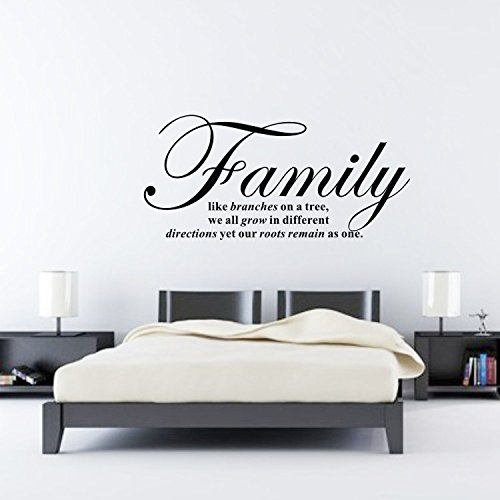 Family Like Branches On A Tree Removable Vinyl Wall Stickers For Home  Decorations Wall Decal Quotes Art DIY