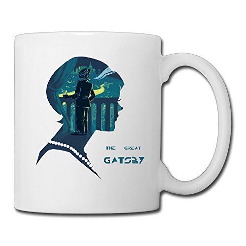 Cool The Great Gatsby Ceramic Coffee Mug, Tea Cup | Best Gift For Men, Women And Kids - 13.5 Oz, White