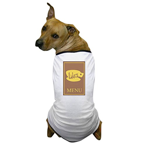 Menu Costume (CafePress Lukes Diner Menu Dog T-Shirt, Pet Clothing, Funny Dog)