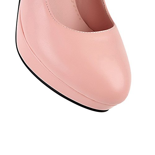 Puro Ballet VogueZone009 Punta Donna Tacco Tirare Tonda Trafilatura Alto Rosa Flats qO61Ofw