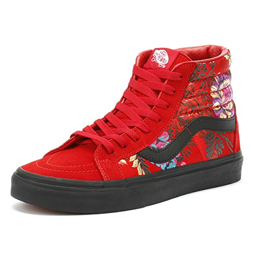 Satin Sneaker On Donna Red Nero Classic Slip Vans Festival wn0qET7EI