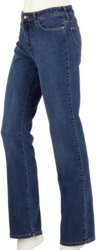 Wrangler w242Tina Bootcut stretch femme jeans, Taille 28/34, bleu usé (Dark)