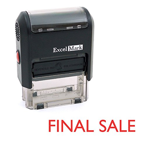 FINAL SALE Self Inking Rubber Stamp - Red Ink (ExcelMark A1539)