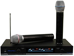 hisonic vhf dual rechargeable wireless microphone system hs8286 musical instruments. Black Bedroom Furniture Sets. Home Design Ideas