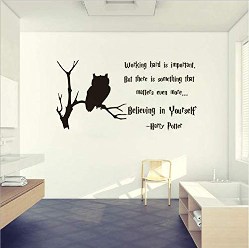 hfwh Pegatinas De Pared - 80x33cm Harry Potter Pared Calcomania Vinilo Pared Mural Ninos Habitacion Decoracion