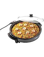 CASO Professionele partypan – elektrische multipan voor pizza, hamburgers, groenten en nog veel meer, tot ca. 240 °C, warmhoudfunctie