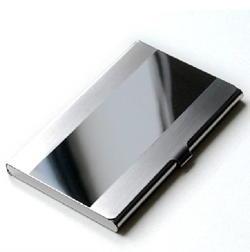 Ascetic Tour Stainless Steel Id Holder Card Case Business Box Case Bank Organizer -