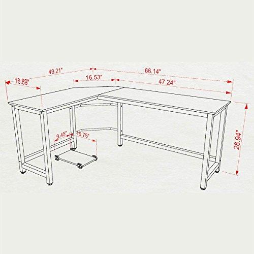 Desk Cd Storage L-shaped - L Shaped Office Desk,Home Corner Desk, Computer Office PC Laptop Study Table Workstation Home Office Wood & Metal