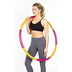 HEALTHYMODELLIFE Fitness Hula Hoop by Healthy Model Life - Easy to Spin, Premium Quality and Soft Padding Hula Hoop - 2lbs