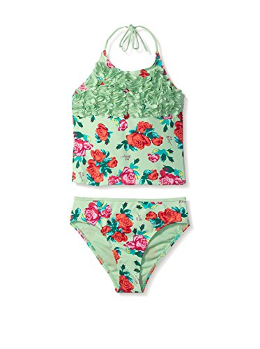 Betsey Johnson 2-Piece Floral Halter Tankini Swimsuit - Halter Dress Betsey Apparel Johnson