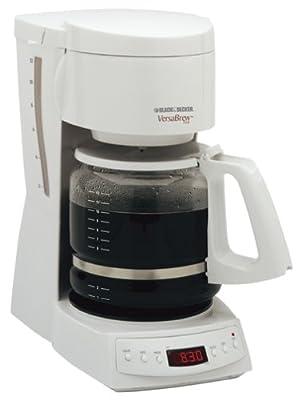 Black & Decker DCM1350 VersaBrew Plus 12-Cup Programmable Coffee Maker, White