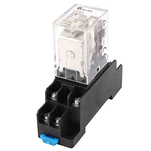 24v Relay (Uxcell a14071800ux0297 35mm DIN Rail DPDT 8P General Purpose Power Relay AC 24V Coil w Socket)